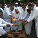 Varanasi - On the Occasion of Munshi Premchand Jayanti BK Surendra Didi, BK Vipin Bhai, BK Narendra Bhai, BK Taposhi Bahen & others Planting the Tree.